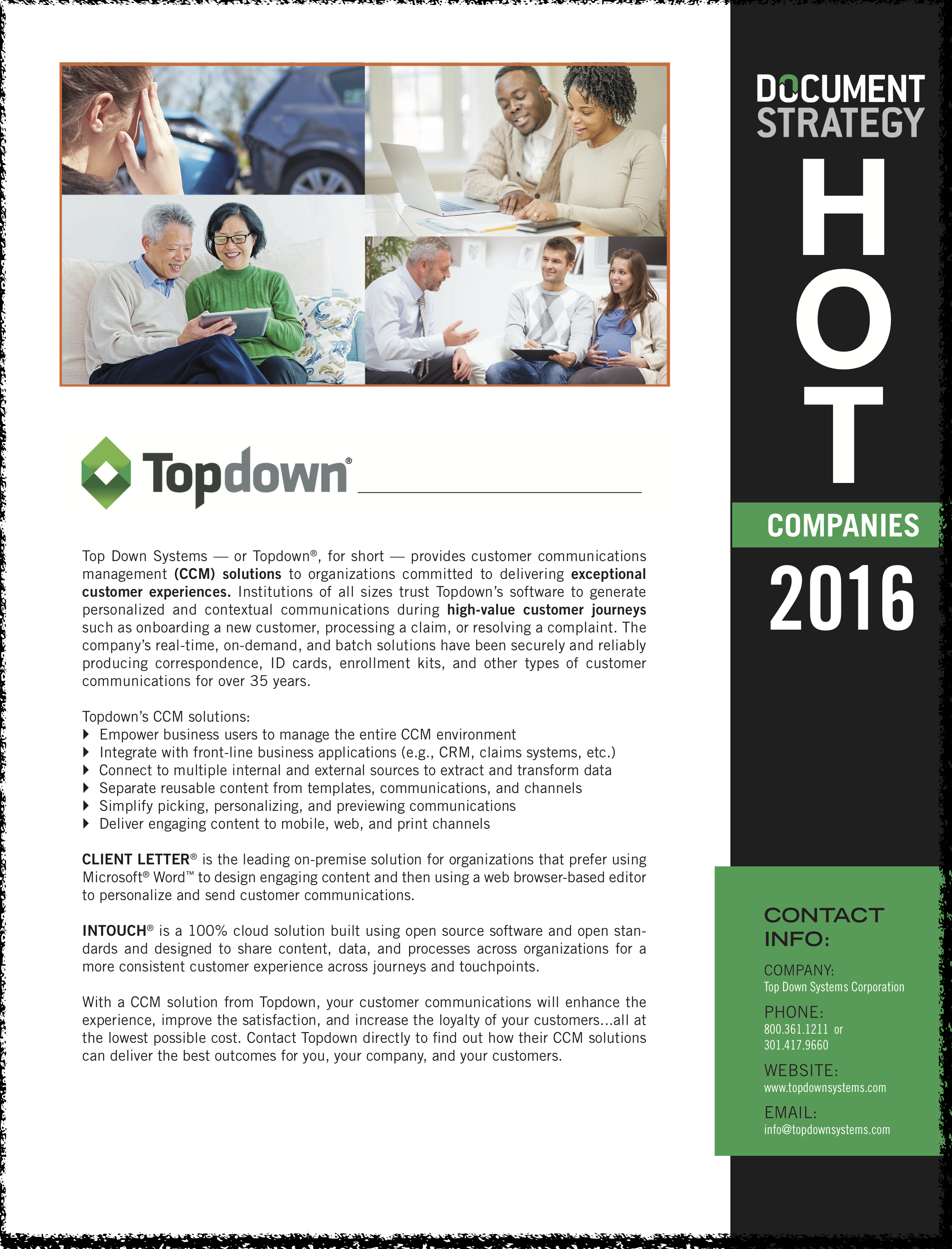 DOCUMENT Strategy 2016 HOT Company