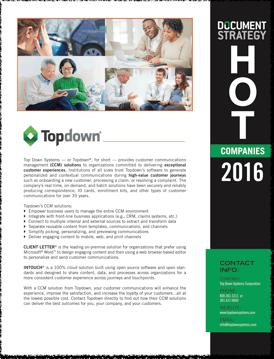 DOCUMENT Strategy 2016 HOT Company