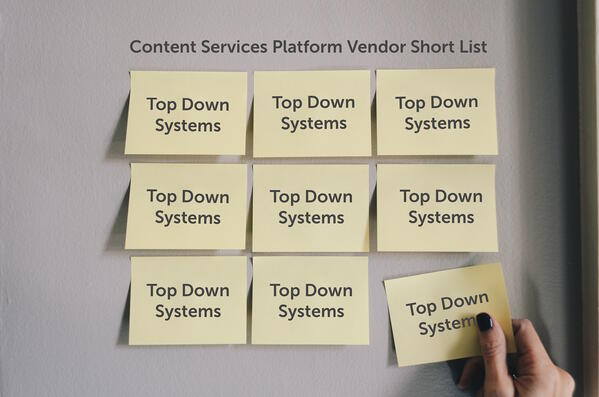 Content Services Platform Short List