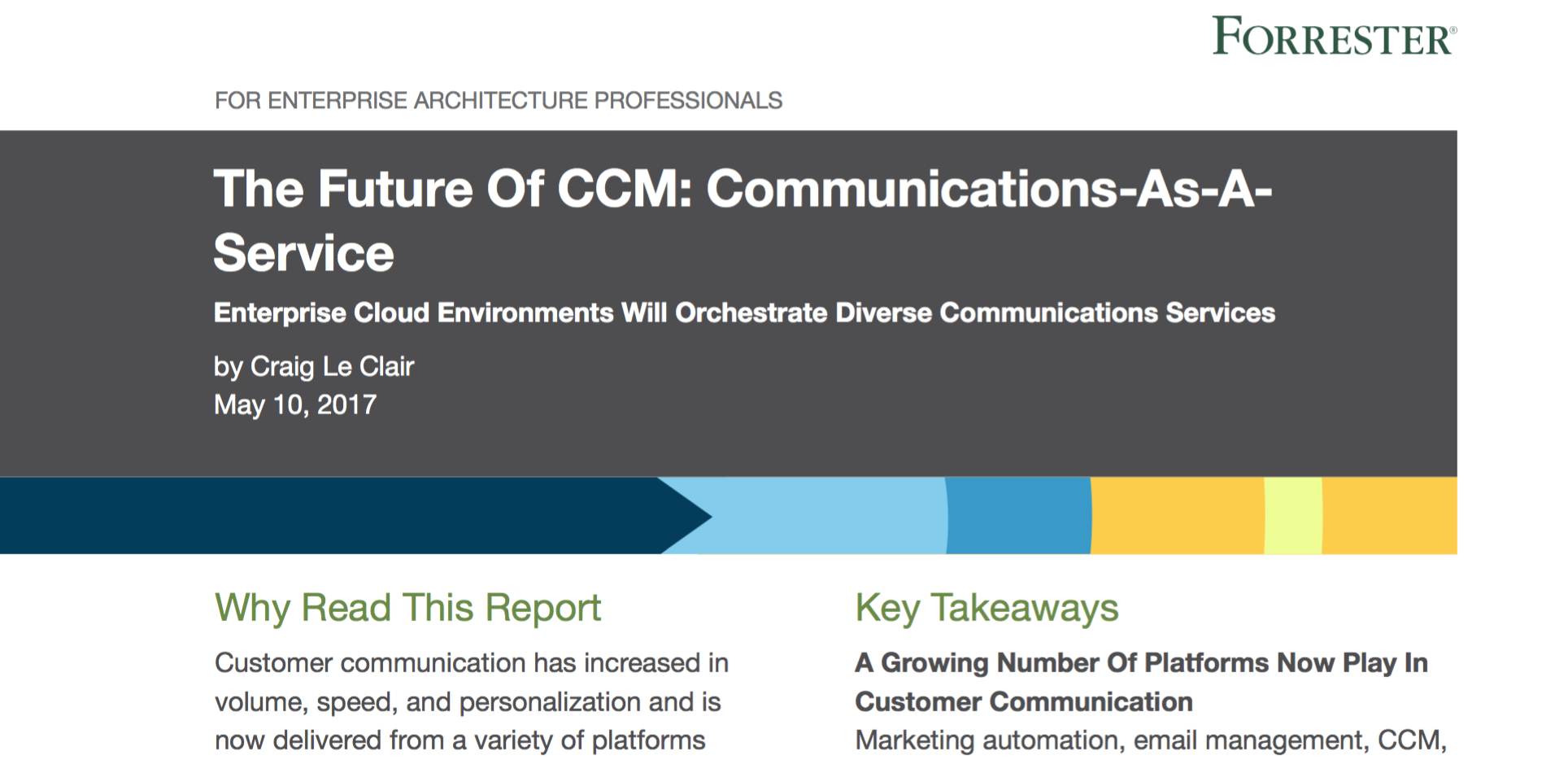Forrester Future of CCM report snippet