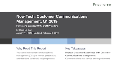 Forrester Now Tech CCM Q1 2019