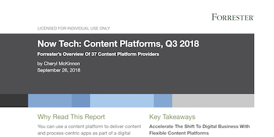 Forrester Now Tech Content Services 2018
