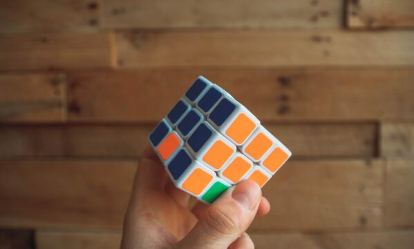 Rubik's cube represents reusable content blocks