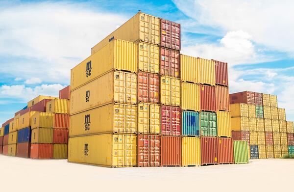 shipping containers symbolize containerized cloud-native software