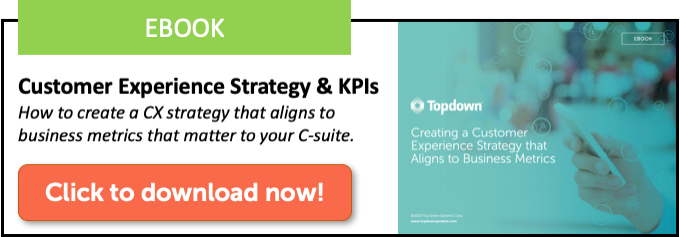 Download the CX strategy and KPIs ebook